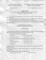 Nghị quyết Đại hội cổ đông thường niên năm 2010 - Công ty Cổ phần Ngân Sơn