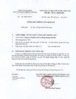 Nghị quyết Đại hội cổ đông thường niên năm 2014 - CTCP Suất ăn Hàng không Nội Bài