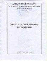 Báo cáo tài chính hợp nhất quý 4 năm 2011 - Công ty cổ phần Đầu tư Xây dựng và Khai thác Công trình Giao thông 584