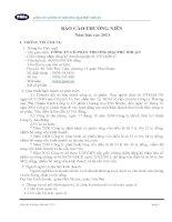 Báo cáo thường niên năm 2013 - CTCP Thương mại Phú Nhuận