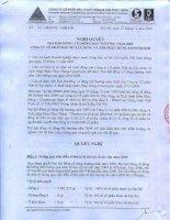 Nghị quyết đại hội cổ đông ngày 27-12-2009 - Công ty cổ phần Xây dựng Phục Hưng Holdings