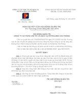 Nghị quyết Hội đồng Quản trị - Công ty Cổ phần Vận tải và Dịch vụ Petrolimex Hải Phòng
