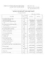 Báo cáo tài chính hợp nhất quý 4 năm 2011 - Công ty Cổ phần Đầu tư và Phát triển Dự án Hạ tầng Thái Bình Dương