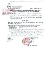 Nghị quyết Hội đồng Quản trị ngày 24-12-2010 - Công ty Cổ phần Vàng bạc Đá quý Phú Nhuận