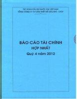 Báo cáo tài chính hợp nhất quý 4 năm 2012 - Tổng Công ty Tư vấn Thiết kế Dầu khí-CTCP