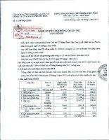 Nghị quyết Hội đồng Quản trị ngày 10-1-2011 - Công ty cổ phần Cao su Phước Hòa