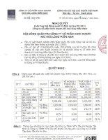 Nghị quyết Hội đồng Quản trị ngày 22-07-2011 - Công ty Cổ phần Kinh doanh Khí hóa lỏng Miền Nam