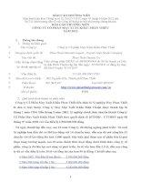 Báo cáo thường niên năm 2012 - Công ty Cổ phần May Xuất khẩu Phan Thiết