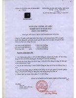 Báo cáo tài chính công ty mẹ quý 3 năm 2013 - Công ty Cổ phần Xuất nhập khẩu Petrolimex