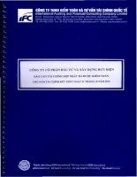 Báo cáo tài chính hợp nhất năm 2013 (đã kiểm toán) - Công ty Cổ phần Đầu tư và Xây dựng Bưu điện
