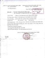 Nghị quyết Hội đồng Quản trị - Công ty Cổ phần May Xuất khẩu Phan Thiết
