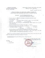 Báo cáo tài chính công ty mẹ quý 1 năm 2015 - Công ty Cổ phần Văn hóa Phương Nam