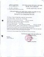 Báo cáo tài chính năm 2012 (đã kiểm toán) - CTCP Đầu tư Điện lực 3