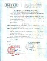Nghị quyết Hội đồng Quản trị - Công ty Cổ phần Văn hóa Phương Nam