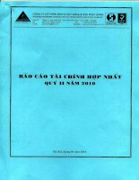 Báo cáo tài chính quý 2 năm 2010 - Công ty cổ phần Xây dựng Phục Hưng Holdings