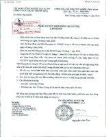 Nghị quyết Hội đồng Quản trị ngày 01-11-2010 - Công ty cổ phần Cao su Phước Hòa