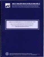 Báo cáo tài chính hợp nhất quý 2 năm 2014 (đã soát xét) - Công ty Cổ phần Đầu tư và Xây dựng Bưu điện