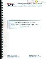 Báo cáo tài chính công ty mẹ năm 2013 (đã kiểm toán) - Công ty Cổ phần Hồng Hà Việt Nam