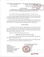 Nghị quyết Hội đồng Quản trị - Tổng công ty Pisico Bình Định - CTCP