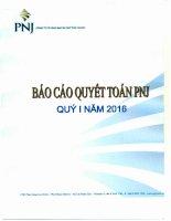 Báo cáo tài chính công ty mẹ quý 1 năm 2016 - Công ty Cổ phần Vàng bạc Đá quý Phú Nhuận