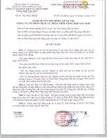 Nghị quyết Hội đồng Quản trị - Công ty cổ phần Dịch vụ Phân phối Tổng hợp Dầu khí