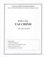 Báo cáo tài chính công ty mẹ quý 3 năm 2014 - Công ty Cổ phần Luyện kim Phú Thịnh