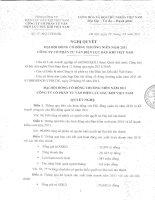 Nghị quyết Đại hội cổ đông thường niên năm 2011 - Công ty cổ phần Tư vấn Điện lực Dầu khí Việt Nam