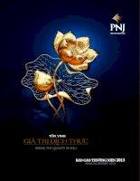 Báo cáo thường niên năm 2013 - Công ty Cổ phần Vàng bạc Đá quý Phú Nhuận