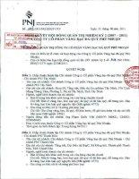 Nghị quyết Hội đồng Quản trị ngày 22-8-2011 - Công ty Cổ phần Vàng bạc Đá quý Phú Nhuận