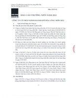 Báo cáo thường niên năm 2011 - Công ty Cổ phần Kinh doanh Khí hóa lỏng Miền Bắc