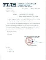 Báo cáo tài chính công ty mẹ quý 3 năm 2013 - Công ty Cổ phần Văn hóa Phương Nam
