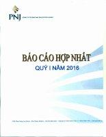 Báo cáo tài chính hợp nhất quý 1 năm 2016 - Công ty Cổ phần Vàng bạc Đá quý Phú Nhuận