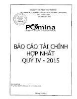 Báo cáo tài chính hợp nhất quý 4 năm 2015 - Công ty Cổ phần Thép Pomina