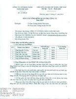 Báo cáo tình hình quản trị công ty - Công ty Cổ phần Chăn nuôi Phú Sơn