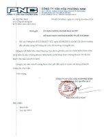 Báo cáo tài chính công ty mẹ năm 2013 (đã kiểm toán) - Công ty Cổ phần Văn hóa Phương Nam