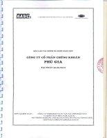 Báo cáo tài chính quý 2 năm 2012 (đã soát xét) - Công ty Cổ phần Chứng khoán PHÚ GIA