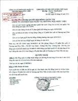 Nghị quyết Hội đồng Quản trị ngày 6-4-2011 - Công ty Cổ phần Sản xuất và Thương mại Phúc Tiến