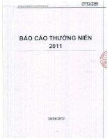Báo cáo thường niên năm 2011 - Công ty Cổ phần Văn hóa Phương Nam