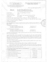 Báo cáo tài chính công ty mẹ quý 3 năm 2014 - Công ty Cổ phần Hồng Hà Việt Nam