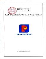 Bản điều lệ - Tập đoàn Xăng dầu Việt Nam