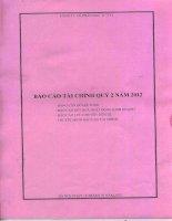Báo cáo tài chính quý 2 năm 2012 - Công ty cổ phần Đầu tư PV2