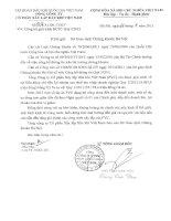 Báo cáo tài chính công ty mẹ quý 1 năm 2012 - Tổng Công ty cổ phần Xây lắp Dầu khí Việt Nam