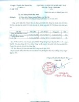 Báo cáo tài chính hợp nhất năm 2015 (đã kiểm toán) - Công ty cổ phần Bia Thanh Hóa