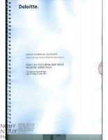 Báo cáo tài chính hợp nhất năm 2014 (đã kiểm toán) - Công ty cổ phần Bia Thanh Hóa