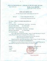Nghị quyết Hội đồng Quản trị - Công ty cổ phần Mía đường 333