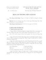 Báo cáo thường niên năm 2010 - Công ty Cổ phần Sách và Thiết bị trường học Quảng Ninh