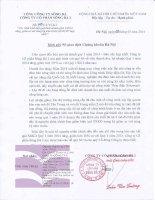 Báo cáo tài chính hợp nhất quý 1 năm 2014 - Công ty Cổ phần Sông Đà 2