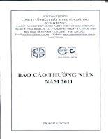 Báo cáo thường niên năm 2011 - Công ty Cổ phần Thiết bị Phụ tùng Sài Gòn