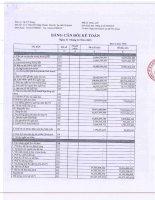 Báo cáo tài chính quý 4 năm 2015 - Công ty Cổ phần Trang