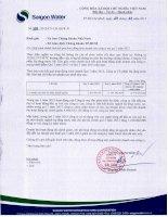 Báo cáo tài chính công ty mẹ quý 3 năm 2015 - Công ty cổ phần Hạ tầng nước Sài Gòn